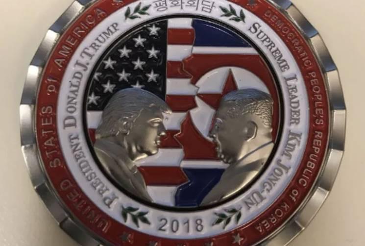 У США вже випустили монету на честь зустрічі Трампа з Кім Чен Ином (ФОТО)