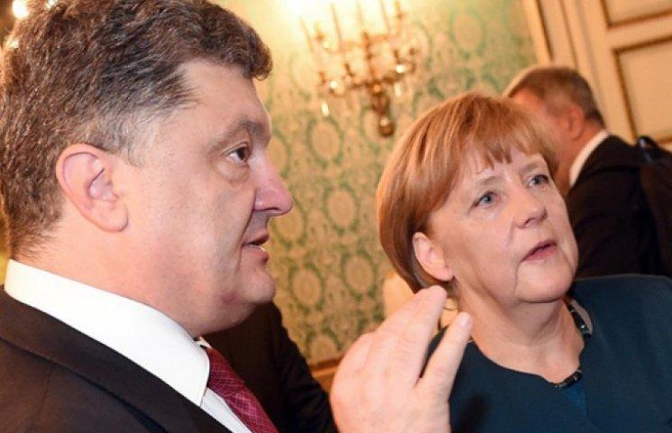 Порошенко пожаловался Меркель на неоплату «Газпромом» транзита газа