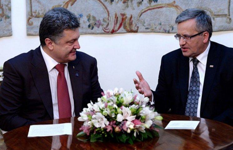 Президент Польщі запевнив Порошенка у підтримці у зв