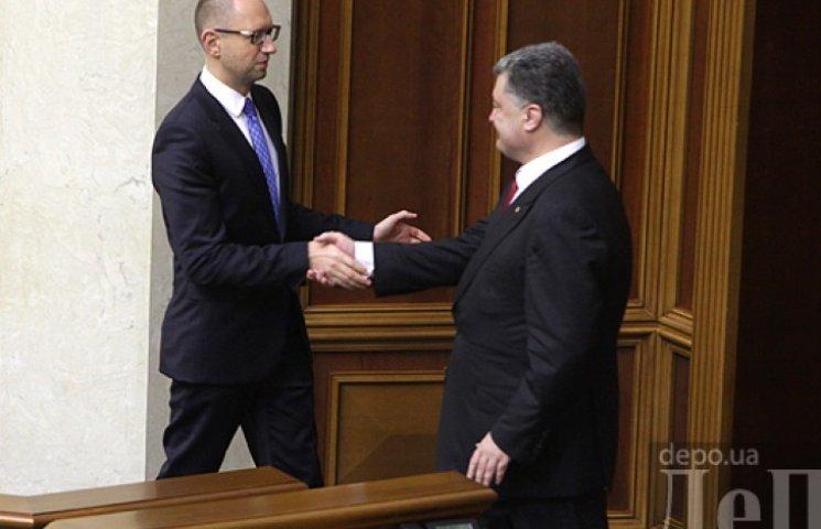 Яценюк згоден підписати коаліційну угоду на умовах партії Порошенка