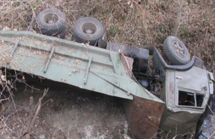 В ДТП на Полтавщині перекинулася вантажівка, водій загинув