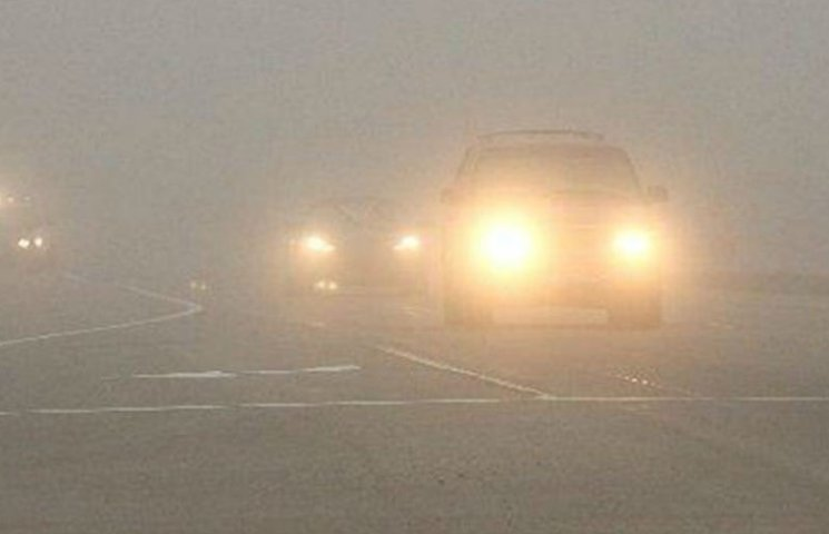 Туман у Києві спровокував 17 автомобільних заторів
