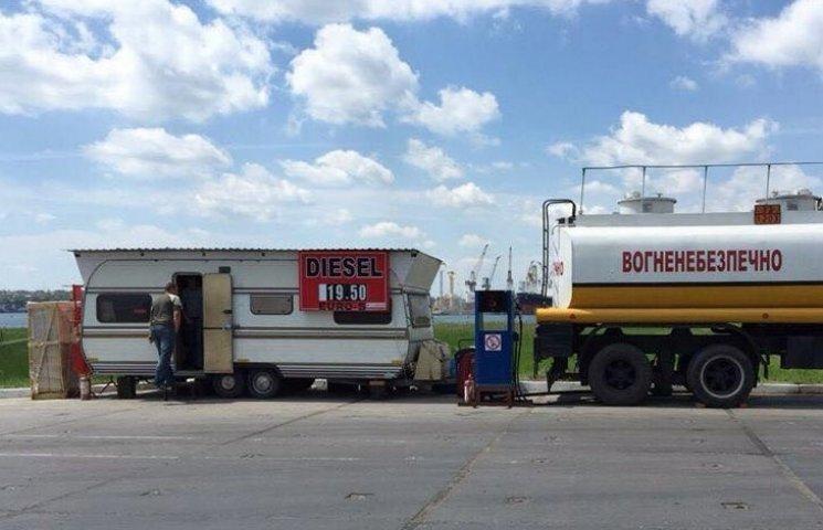 Оперативники викрили підпільну АЗС в Іллічівському порту