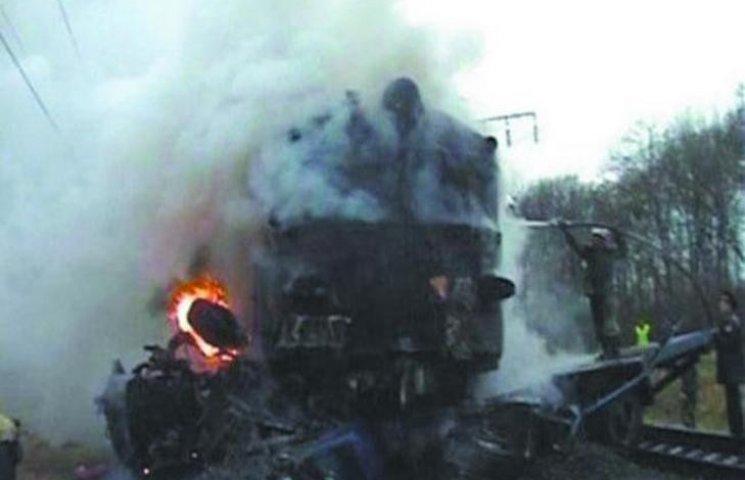 На Львівщині загорівся тепловоз