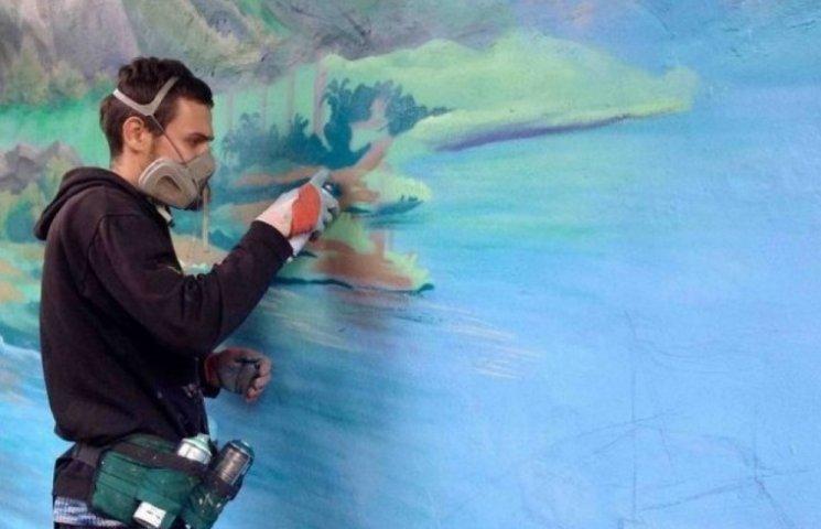 Переселенці розмальовують оранжерею Ботанічного Саду Одеси