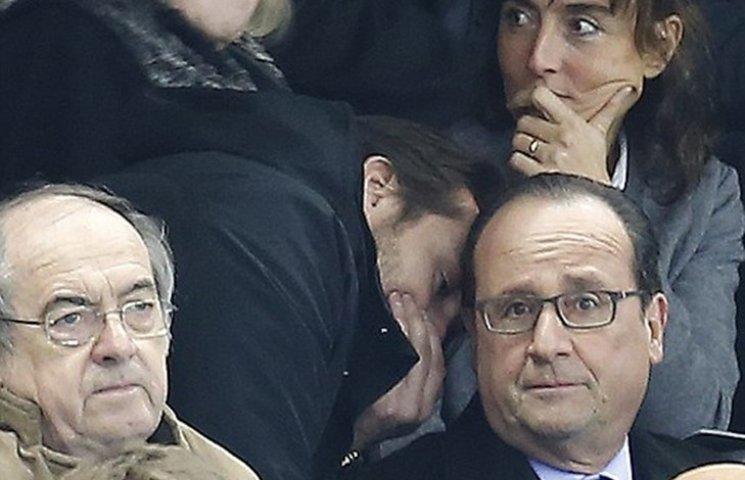 Реакция Олланда на известие о терактах в…