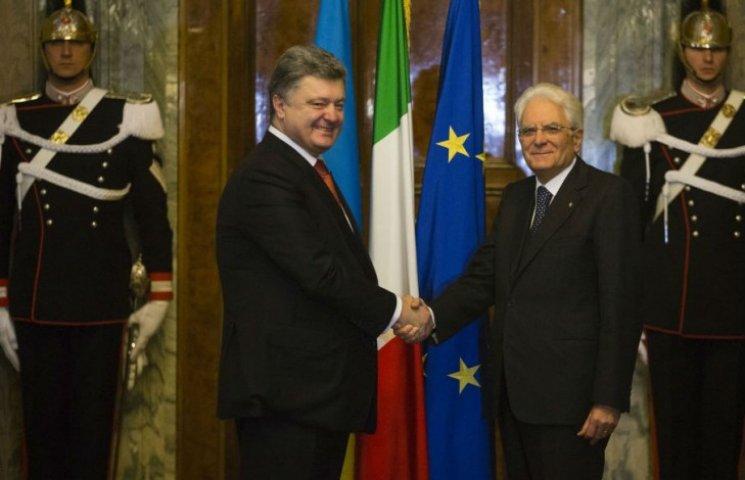 Президент Италии заверил Порошенко, что не сдаст Украину из-за Сирии