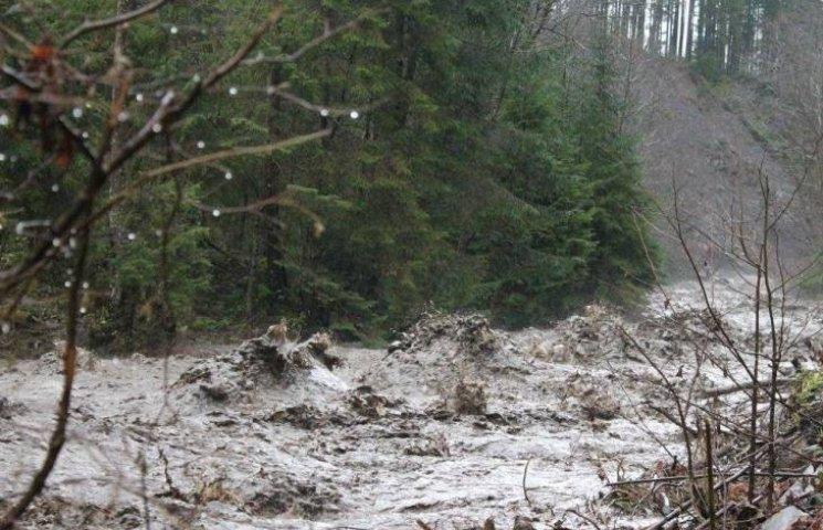 Як на Закарпатті позашляховик рятувався від страшної води