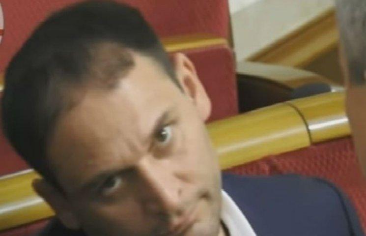 Нардеп Добкин во время заседания Рады поразил журналистов своей мимикой (ВИДЕО)