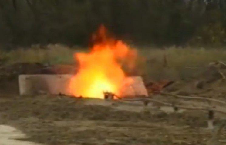 На Львовщине зажигают: Порошенко открыл газовую скважину (ФОТО)