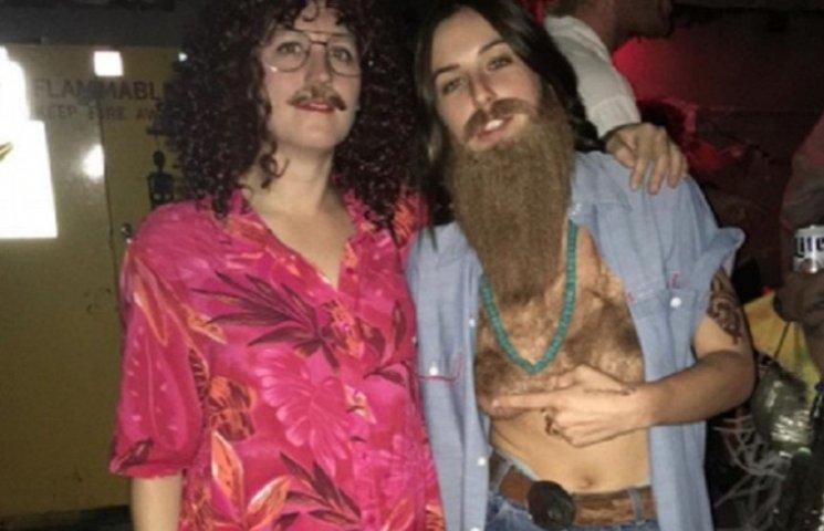 Дочь Брюса Уиллиса пришла на вечеринку с голой волосатой грудью