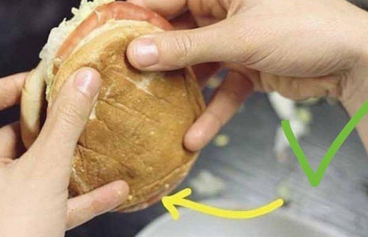 Як правильно тримати гамбургер, підігрівати макарони та різати батон