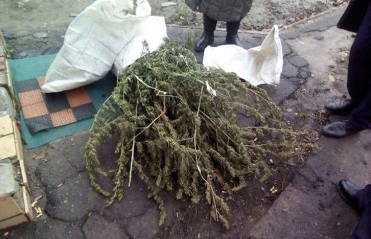 Лубенские полицейские задержали мужчину с килограммом конопли