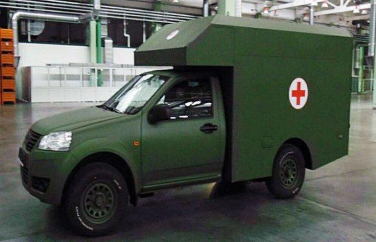 """Корпорація """"Богдан"""" розробила новий санітарний пікап для зони війни"""