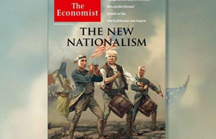 The Economist поместил на обложку карикатурных Путина, Трампа и ле Пен