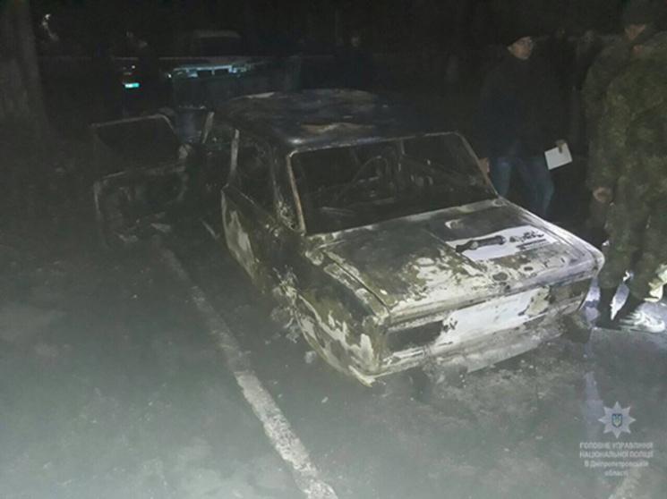 Около Днепра изгранатомета обстреляли автомобиль сполицейскими
