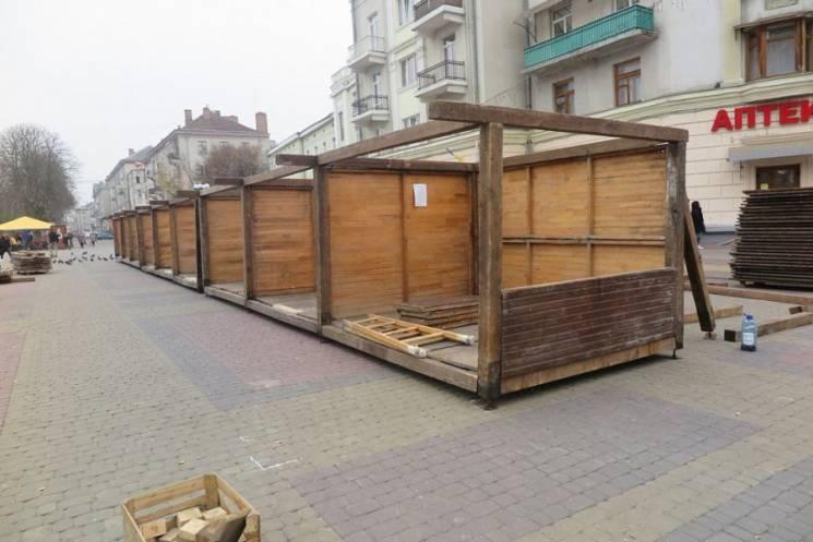 """У Тернополі монтують """"Файне зимове місте…"""