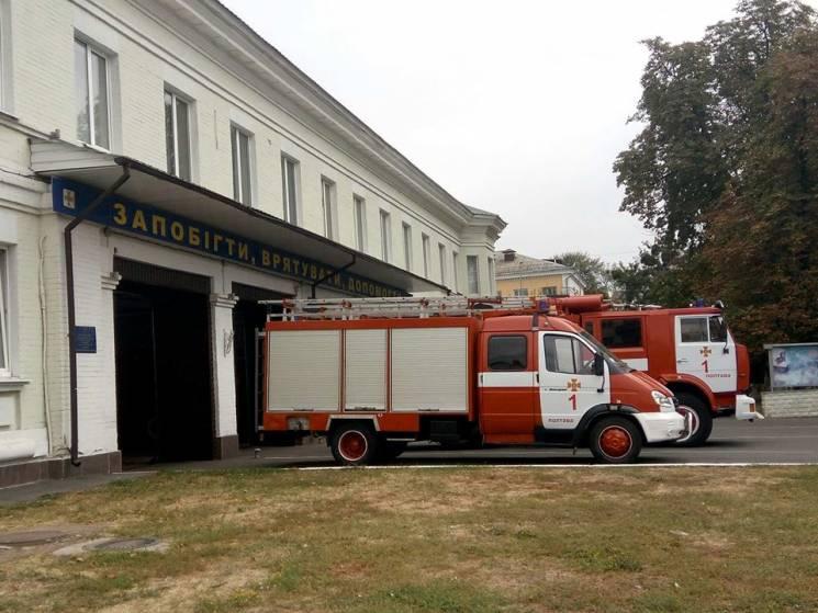 Під Полтавою бійці ДСНС гасили пожежу на території приватного домоволодіння