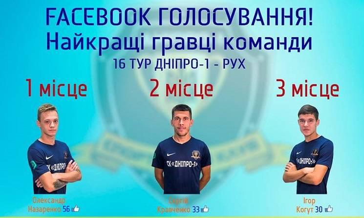 """Фанати """"Дніпра-1"""" обрали кращого гравця тижня"""