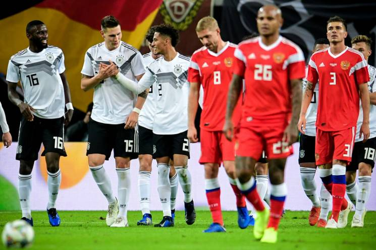З'явилось відео ганебної поразки збірної Росії в матчі з Німеччиною