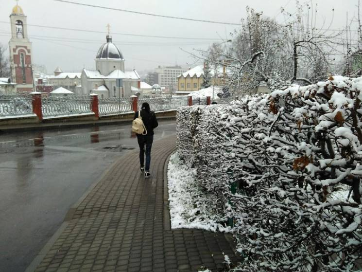 На Львівщину прийшла зима (ФОТОРЕПОРТАЖ)