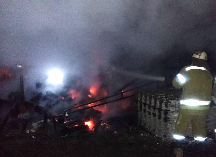 На Полтавщині на приватному подвір'ї згоріло 40 кубів дров