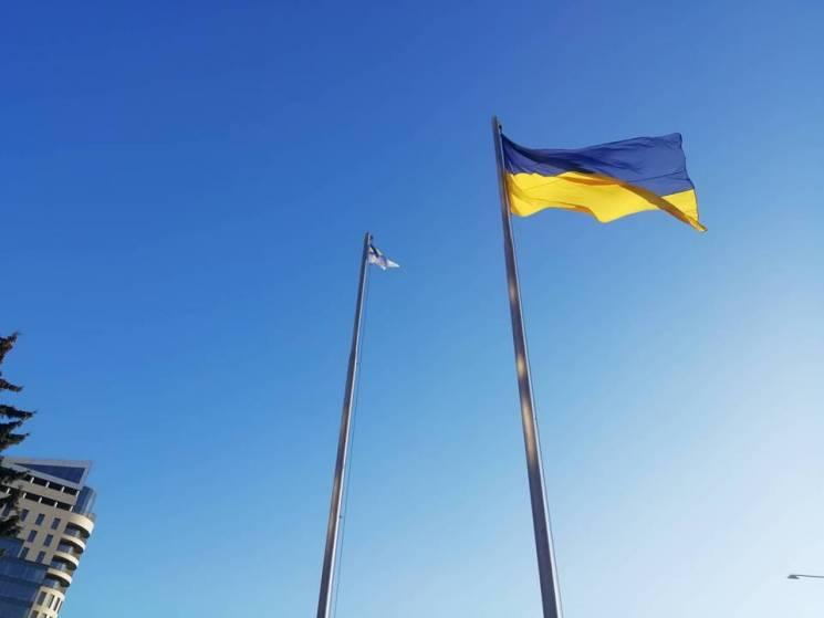 У центрі Запоріжжя під прапором ВМС вима…