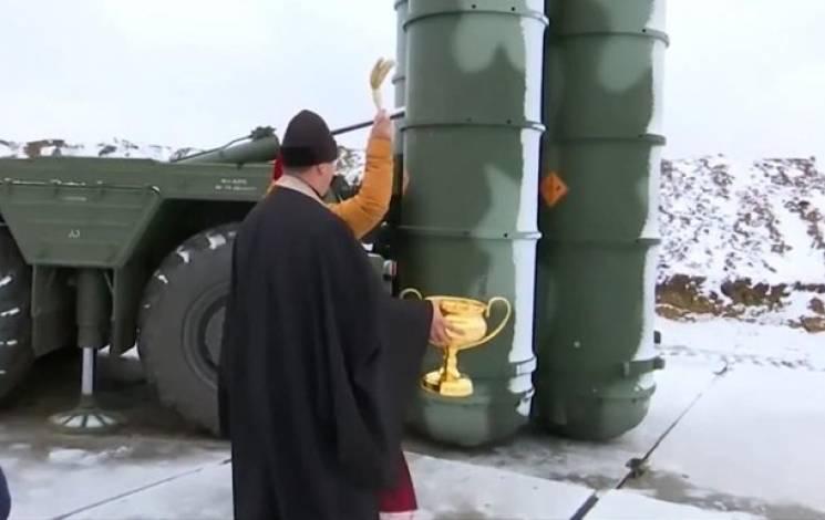 В окупованому Криму священики МП освятили зенітно-ракетний комплекс С-400 (ВІДЕО)