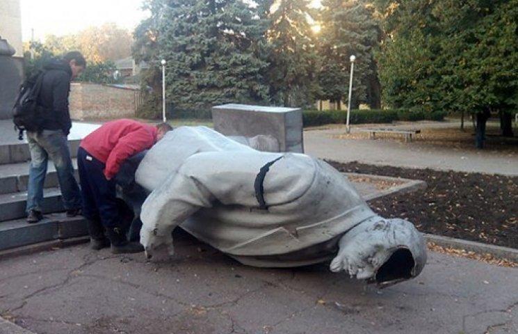 У Кривому Розі звалили головного Леніна