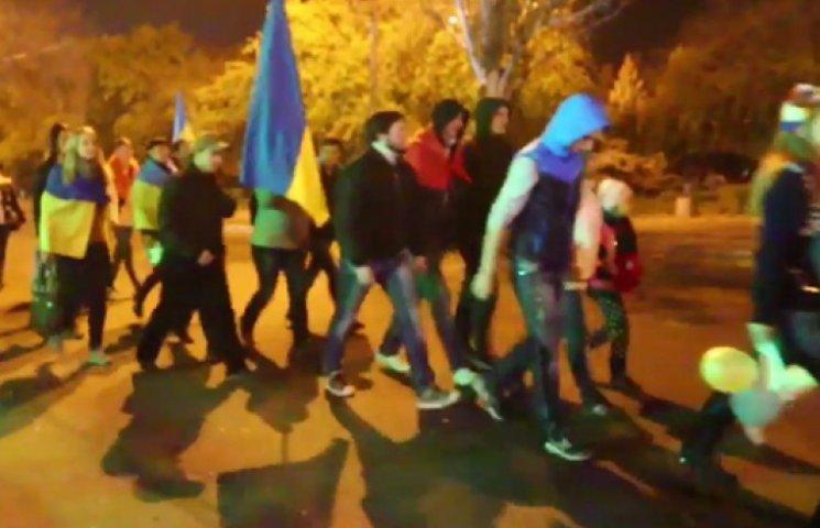 Краматорськ здивував: у місті пройшла факельна хода на честь УПА