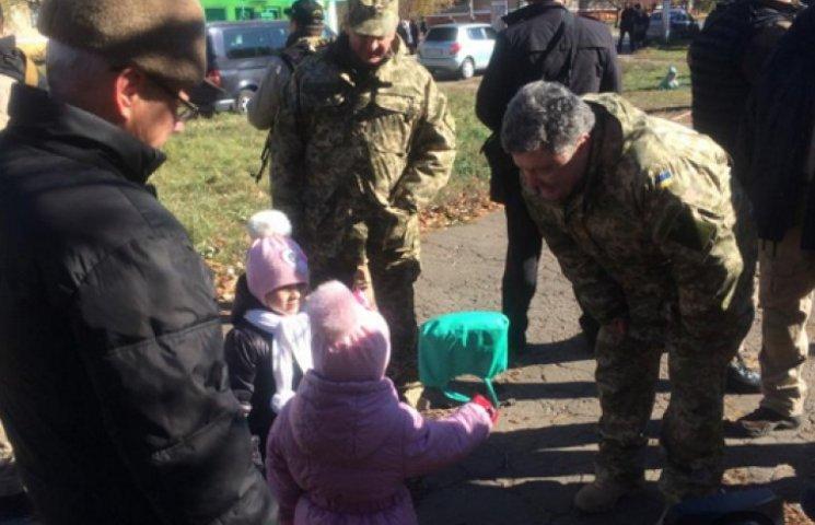 Порошенко в Краматорске пообщался с малышами