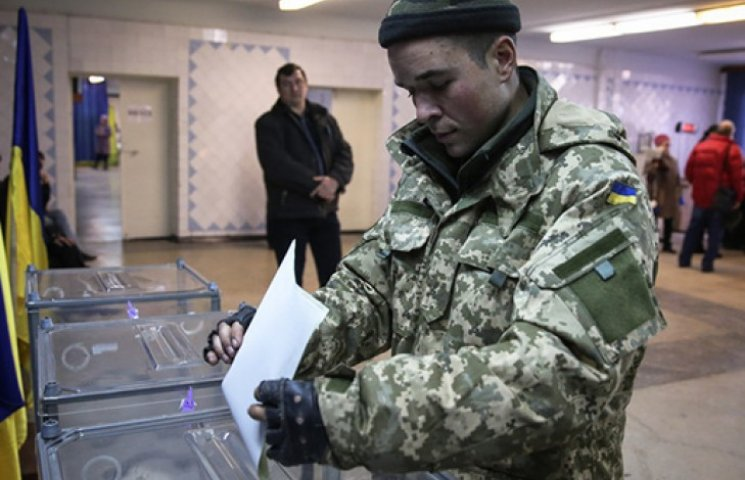 Участие в выборах уже приняли 80% военных в зоне АТО и 100% пограничников
