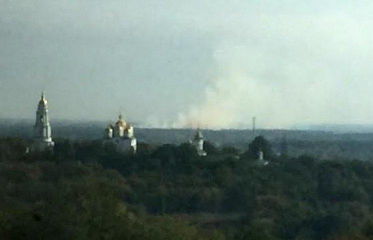 На околиці Полтави пожежа, дим видно з центру міста