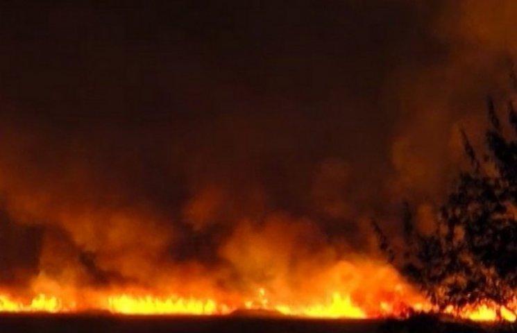 На Одещині усю ніч палав вогонь на площі у понад три гектари