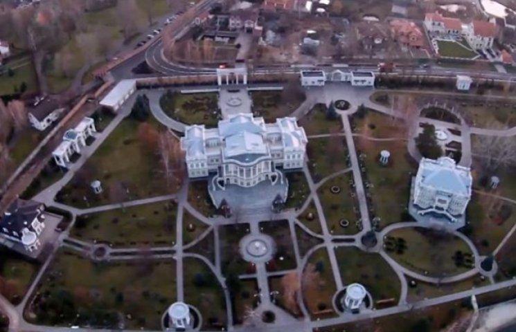 Как выглядит имение Порошенко под Киевом с высоты птичьего полета