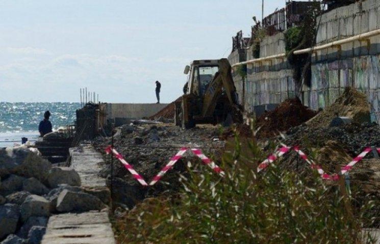 В Аркадії відновлено будівельні роботи