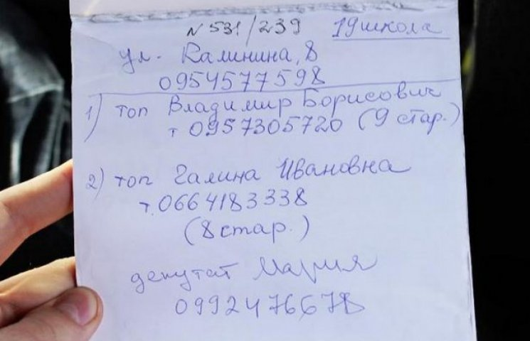 У Полтаві знайшли блокнот з іменами підкуплених виборців