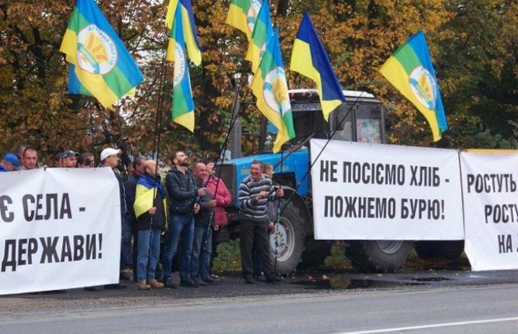 На Вінниччині страйкують сільгоспвиробники