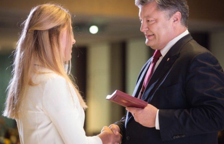 Президент нагородив Харлан орденом княгині Ольги