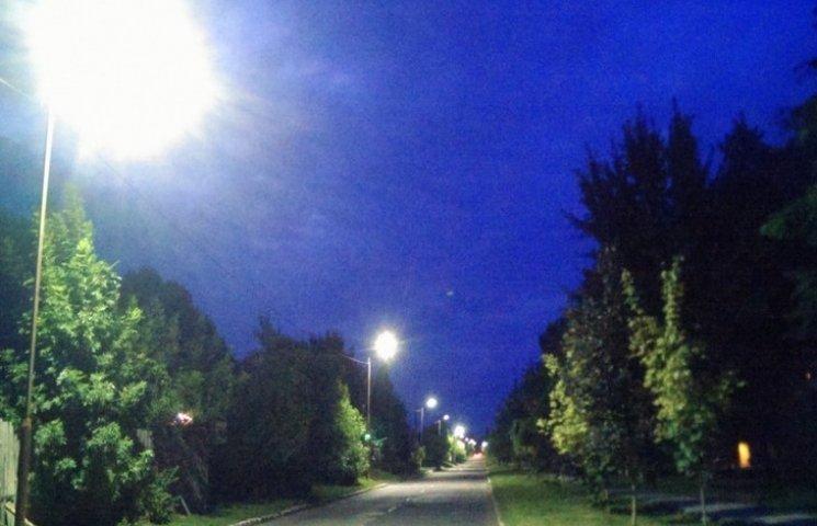 Одне з сіл Старосинявщини освітили LED-світильниками