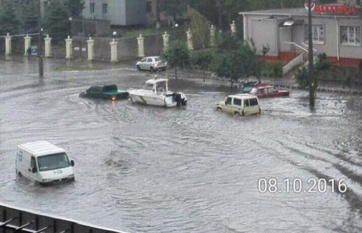 Как катер плавал по улицам Одессы