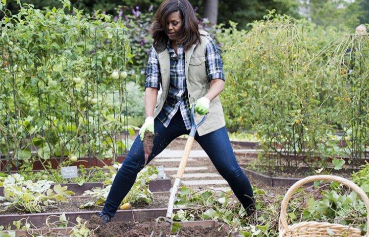 Як Мішель Обама вилами махала