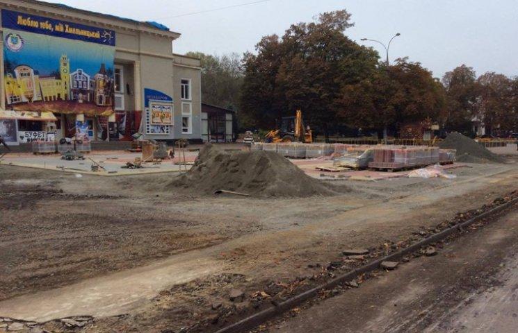 Реконструкція центральної вулиці Хмельницького триватиме і наступного року