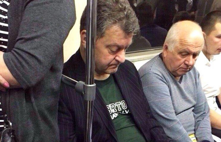 Порошенко, Обама, Путін. Кого з політиків можна зустріти в метро (ФОТОЖАБИ)