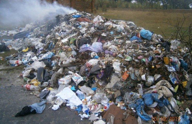Державна екоінспекція Хмельниччини зацікавилась берездівським сміттям