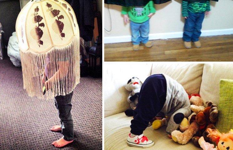30 забавных примеров, как дети играют в прятки