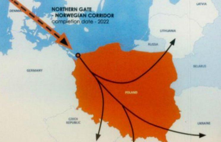 У Польщі показали проект газопроводу з Норвегії, яким паливо може піти в Україну