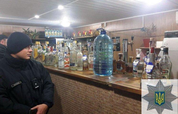 """Поліція вилучила алкоголь у трьох """"наливайках"""""""