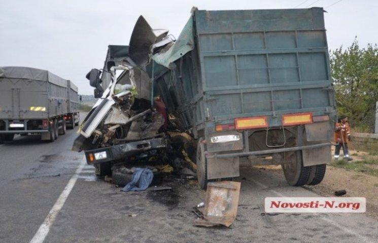 Під Миколаєвом зіткнулися дві вантажівки: є жертви