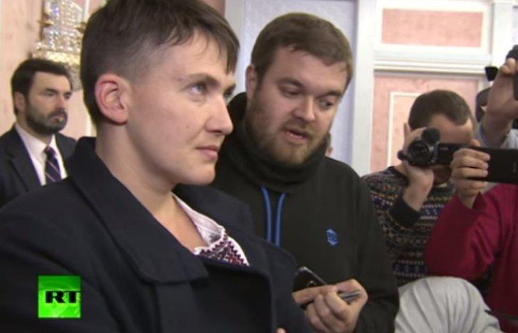 """Cавченко """"впала в нірвану"""" під час спілкування з російськими журналістами"""